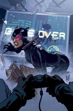 Catwoman cover by Adam Hughes Batwoman, Batgirl, Supergirl, Adam Hughes, Comic Book Artists, Comic Artist, Comic Books Art, Justice League, Harley Quinn