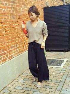 ラフラフ~ スウェット素材のワイドパンツは楽すぎる。 ♡ instaglam→mailifemai