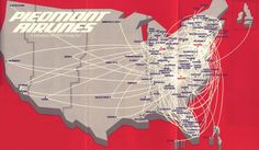 Piedmont Airlines route map
