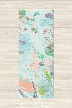 Your friends will be green with envy when you hit the studio with your abstract garden party mat. This printed yoga mat makes a great gift for any yogi in your life. > Details < 72 x 24 and 1/8 thick mat made of durable polyurethane to distribute compression evenly. Bottom is green with a diamond texture to keep you from slipping and sliding. Comes with an orange carrying case for easy transport to and from the studio. > Design < Our products are printed in the USA using the...