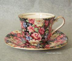 76-1010511 Royal Winton Grimwades Florence Chintz Tea Cup & Saucer - Royal Winton Chintz