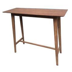 Coaster Rec Room Natural Walnut Rectangular Bar Table 101436 - The Home Depot Bar Height Kitchen Table, Wood Bar Table, Bar Table Sets, Patio Bar Set, Wooden Tables, Bar Tables, Mid Century Bar, Backless Bar Stools, Pub Set