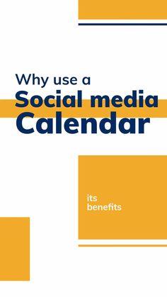 Why use a social media calendar