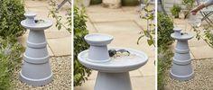 DIY - Donnez une seconde vie à de vieux pots de fleurs et transformez-les en mangeoire à oiseaux. Votre jardin n'en sera que plus beau.