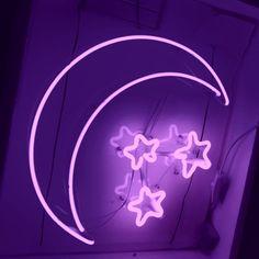 crescent moon, purple, and purple aesthetic @trulyawanderer