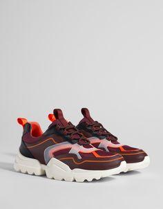 b30d1873a6a Multi-piece platform trainers - Trainers - Bershka United Kingdom Best  Sneakers