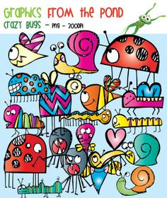 Scrappy Crazy Bugs Clipart