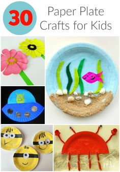 30 Awesome Paper Plate Crafts for kids!