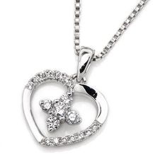 IAD  18K/750 White Gold Heart Shape Diamond by IADJewellery, $627.00