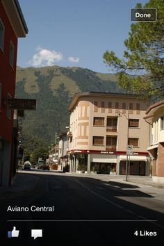 Downtown Aviano, Italy where I used to live for many years ago