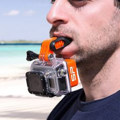 GoPro Mouth Mount (yes, that's right). Perfect for surfing and other hands-free activities!