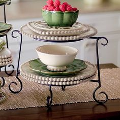 Two Tiered Ornate Stand