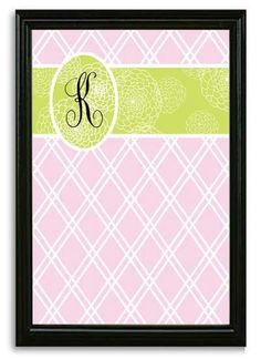 Rosenberry Rooms has everything imaginable for your child's room! Share the news and get $20 Off  your purchase! (*Minimum purchase required.) Pink Trellis with Green Floral Accent Framed Magnetic Board #rosenberryrooms