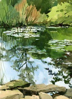 End of summer pond - Shari Blaukopf