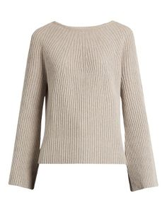 Click here to buy Helmut Lang Flared-sleeve wool and cashmere-blend sweater at MATCHESFASHION.COM
