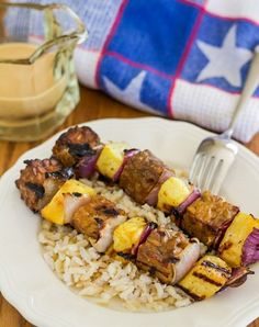 Tempeh and Pineapple Kebabs with Peanut Satay Sauce   Letty's Kitchen