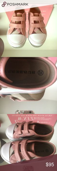 Burberry kids sneakers Burberry kids sneakers pink size 25EU / 9TUS gently used Burberry Shoes Sneakers
