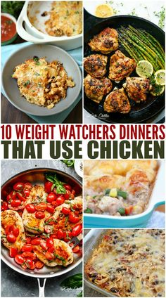 10 Weight Watchers Dinners That Use Chicken - Health Recipes Weight Watcher Dinners, Weight Watchers Chicken, Ww Recipes, Healthy Dinner Recipes, Cooking Recipes, Copycat Recipes, Free Recipes, Easy Chicken Recipes, Healthy Eating