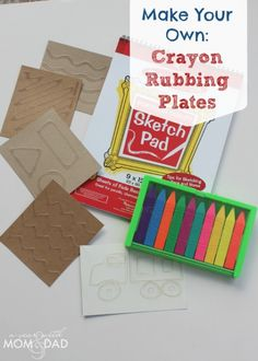 Make Your Own Crayon Rubbing Plates