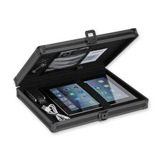"Our photo of a Locking Storage Clipboard, 8 1/2"" x 11"" - Tactical Black by Vaultz"