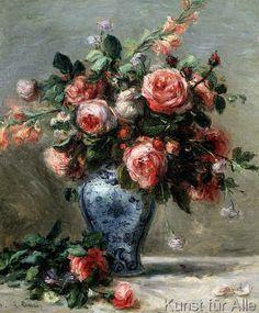 Pierre Auguste Renoir - Vase of Roses, 1870-72