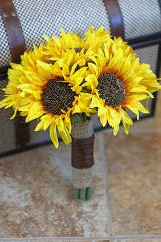 Sunflower Wedding Bouquet  Rustic Country by SouthernGirlWeddings, $120.00