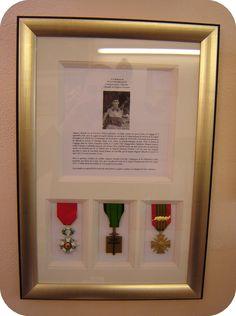 encadrements médailles et légion d'honneur