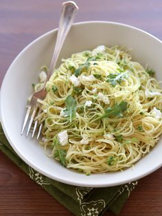 Arugula Pesto Pasta with Ricotta Cheese - And Now for Something Completely Delicious