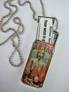 Zoltar fortune teller necklace by The Green Apple - Big anyone?