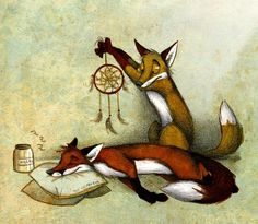 Snox oculus by Culpeo-Fox on DeviantArt Fox Illustration, Illustrations, Art Fox, Fuchs Tattoo, Fantastic Fox, Fox Drawing, Furry Art, Dream Catcher, Wolf