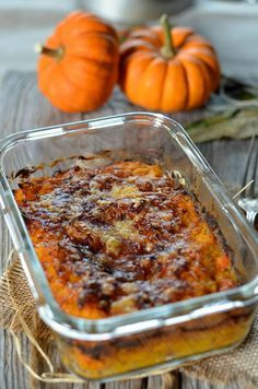 Gratin de courge potimarron - Tangerine Zest Plus Vegan Pumpkin, Pumpkin Recipes, Fall Recipes, Easy Healthy Recipes, Vegetarian Recipes, Cooking Recipes, Salty Foods, Detox Recipes, Savoury Dishes