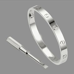 Womens & Mens Cartier Inspired Love Bracelet Silver by ChicAbazaar, $34.00