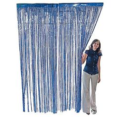 Metallic Blue Foil Fringe Curtains 1 pc  3 ft x 8 ft *** You can get more details by clicking on the image. Note: It's an affiliate link to Amazon.