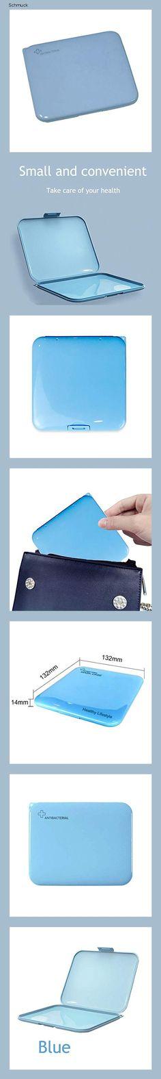 MOLEAQI Tragbare Masken-Aufbewahrungstasche, Staubmasken-Aufbewahrungsbox zur Vermeidung von Maskenverschmutzung 1 Packung Blau, ohne Maske - 14g2