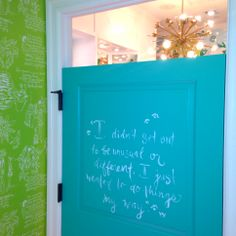 Dressing Room Door at Lilly Pulitzer Kenwood
