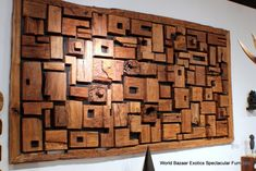 102 W large wall decorative abstract art square sculpture old woods modern - Wood Wall Sculptures - Ideas of Wood Wall Sculptures Carved Wood Wall Art, Driftwood Wall Art, Driftwood Sculpture, Wooden Wall Art, Wood Mosaic, Wall Accessories, Into The Woods, Panel Wall Art, Modern Wall Decor