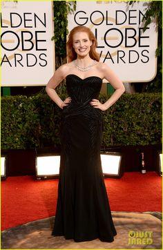 Jessica Chastain - Golden Globes 2014 Red Carpet  | jessica chastain golden globes 2014 red carpet 03 - Photo
