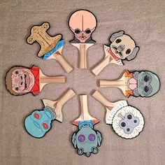 Star Wars Ping Pong Paddles by Matt Ritchie (hand-carved & painted)