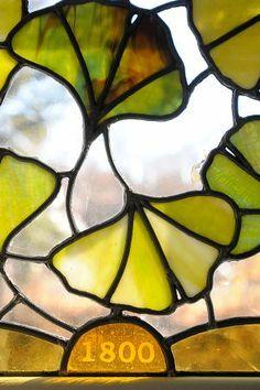 glas in lood gingko - Google Search