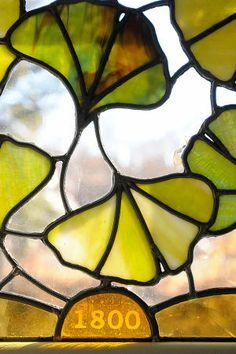 glas in lood gingko - Google Search