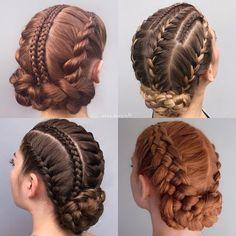 Pretty Braided Hairstyles, Braided Hairstyles Tutorials, Box Braids Hairstyles, Braided Updo, Girl Hairstyles, Hair Tutorials, Protective Hairstyles, Ballet Hairstyles, Wedding Hairstyles