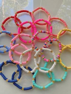 Preppy Bracelets, Summer Bracelets, Cute Bracelets, Summer Jewelry, Beaded Bracelets, Stackable Bracelets, Necklaces, Colorful Bracelets, Bead Jewellery