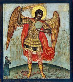 Le saint Archange Michel foulant aux pieds le diable (1676). Galerie Tretiakov, Moscou.