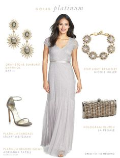 Beaded Silver Gown for a Mother of the Bride