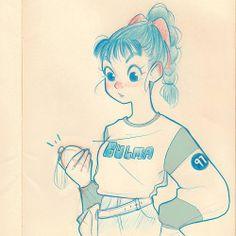 Bulma sketch! :) by Chabe Escalante