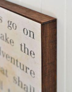 DIY Framed Sign