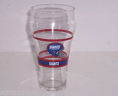 Ummm, I think these belong in my new bar...New York Giants Football Coca Cola Coke Collector Glasse Vintage NFL