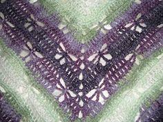 Ravelry: Butterfly Stitch Prayer Shaw free knitting pattern by njSharon AND DebiAdams