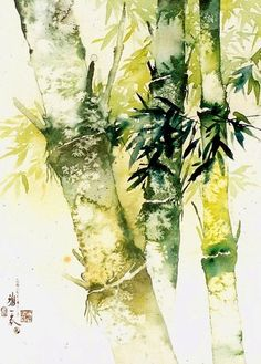 Bamboo forest 竹 林 深 处0155 Watercolor by sia.yekchung