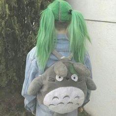 Green ponytails
